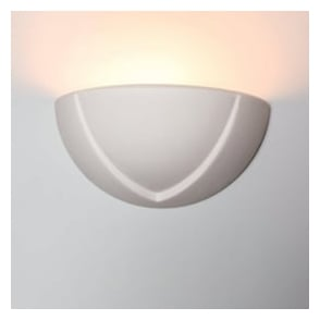 0275LIT Little Ayton 1 Light Gypsum Matt White Wall Light