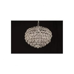 CF311201/04/CH Adaliz 4 Light Crystal Ceiling Pendant Polished Chrome
