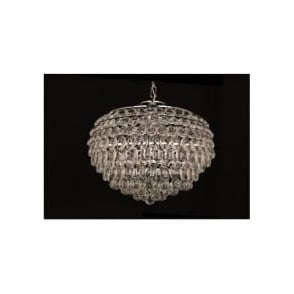 CF311201/06/CH Adaliz 6 Light Crystal Ceiling Pendant Polished Chrome