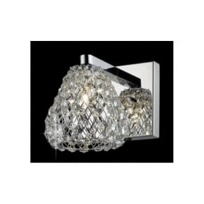 CFH501131/WB/CH Simone 1 Light Crystal Wall Light Polished Chrome