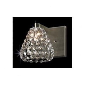 CFH501131/WB/AB Simone 1 Light Crystal Wall Light Antique Brass