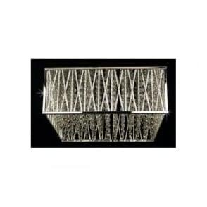 CFH310221/04/PL/CH Melenki 4 Light Crystal Flush Ceiling Light Polished Chrome
