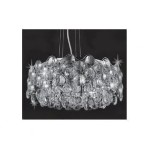 CF412181/08/CH Raina 8 Light Crystal Ceiling Pendant Polished Chrome