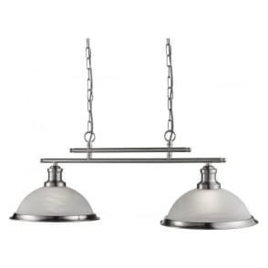 2682-2SS Bistro 2 Light Pendant Satin Silver