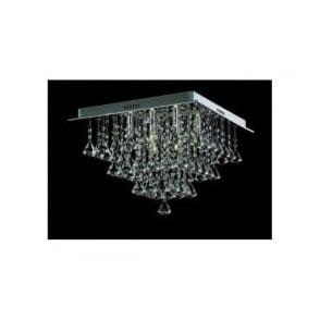 CFH301171/06/PL/CH Parma 6 Light Semi-Flush Ceiling Light Polished Chrome