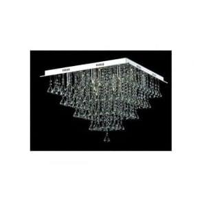 CFH301171/12/PL/CH Parma 12 Light Semi-Flush Ceiling Light Polished Chrome