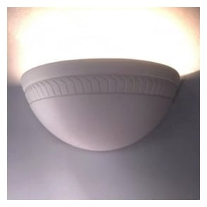0280HAR Harrogate 1 Light Gypsum Wall Light