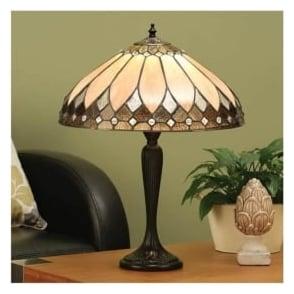 63982 Brooklyn 2 Light Tiffany Table Lamp
