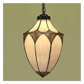 63974 Brooklyn 1 Light Large Tiffany Ceiling Lantern