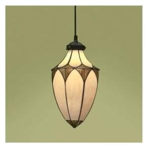 63975 Brooklyn 1 Light Small Tiffany Ceiling Lantern