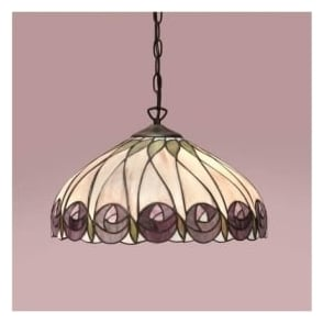 64176 Hutchinson 1 Light Tiffany Ceiling Pendant