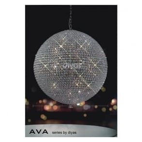 IL30196 Ava 18 Light Pendant Polished Chrome