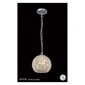 IL30190 Ava 3 Light Pendant Polished Chrome