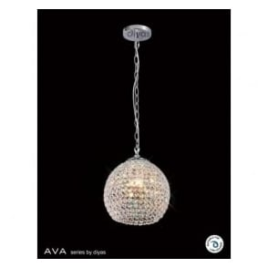 IL30191 Ava 4 Light Pendant Polished Chrome