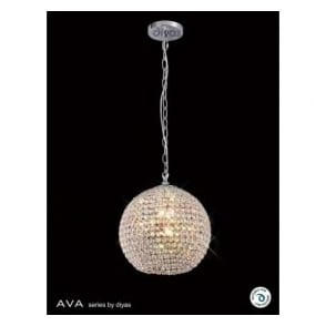 IL30192 Ava 5 Light Pendant Polished Chrome