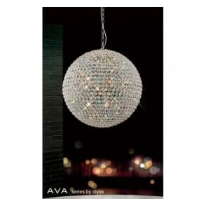 IL30195 Ava 9 Light Pendant Polished Chrome