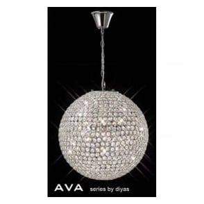 IL30201 Ava 7 Light Pendant Polished Chrome