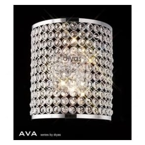IL30199 Ava 2 Light Wall Light Polished Chrome