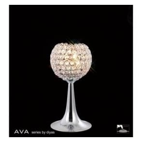 IL30193 Ava 2 Light Table Lamp Polished Chrome