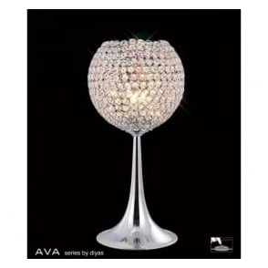 IL30194 Ava 3 Light Table Lamp Polished Chrome