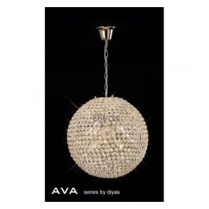 IL30753 Ava 7 Light Pendant French Gold