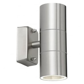 EL-40095 Canon Outdoor 2 Light Wall Light Stainless Steel IP44