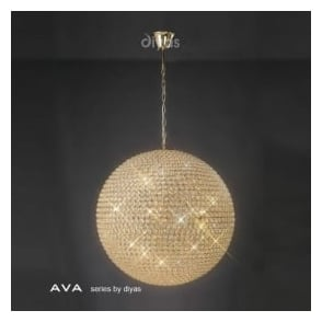 IL30750 Ava 12 Light Pendant French Gold