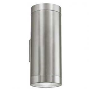 90121 Ascoli 2 Light IP44 Wall Light Stainless Steel