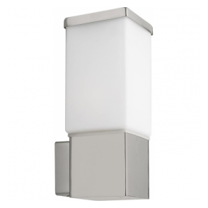 86387 Calgary 1 Light IP44 Wall Light Stainless Steel