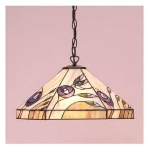 64037 Damselfly 1 Light Tiffany Ceiling Pendant