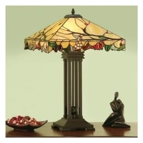 63909 Arbois 2 Light Tiffany Table Lamp