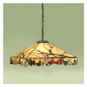 63907 Arbois 1 Light Tiffany Ceiling Pendant