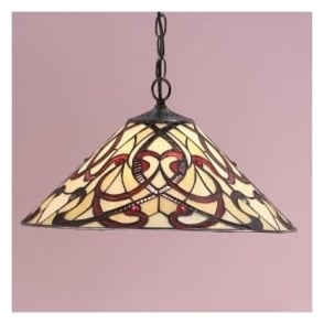 64320 Ruban 1 Light Tiffany Ceiling Pendant