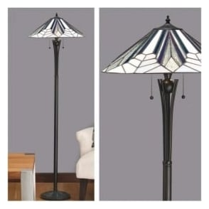 63934 Astoria 2 Light Tiffany Floor Lamp