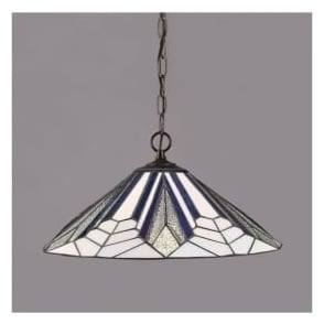 63937 Astoria 1 Light Tiffany Ceiling Pendant