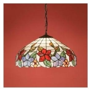 64030 Country Border 1 Light Medium Tiffany Ceiling Pendant