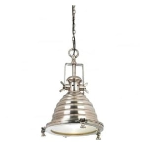 EH-GASKELL Gaskell 1 Light Ceiling Pendant Silver