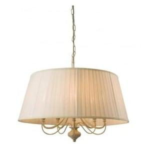 60934 Chester 5 Light Ceiling Light Brushed Gold