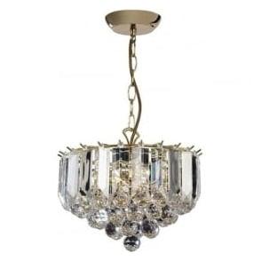 FARGO-12BP 3 Light Modern Ceiling Light Brass Plated Finish (Small)