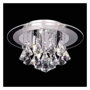 RENNER-3CH Renner 3 Light Crystal Ceiling Light Polished Chrome