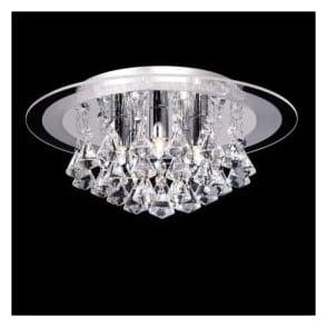 RENNER-5CH Renner 5 Light Crystal Ceiling Light Polished Chrome