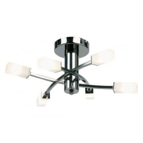 146-6BC Havana 6 Light Ceiling Light Black Chrome