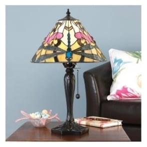 63924 Ashton 1 Light Small Tiffany Table Lamp