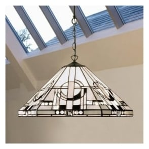64259 Metropolitan 1 Light Tiffany Ceiling Pendant