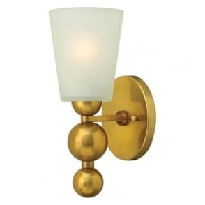Hinkley HK/ZELDA1-VS Zelda 1 Light Wall Light Vintage Brass