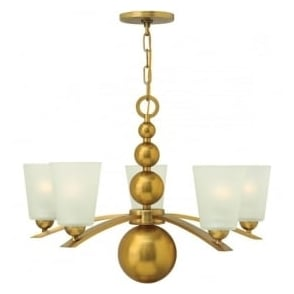 Hinkley HK/ZELDA5-VS Zelda 5 Light Ceiling Light Vintage Brass