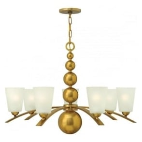 Hinkley HK/ZELDA7-VS Zelda 7 Light Ceiling Light Vintage Brass