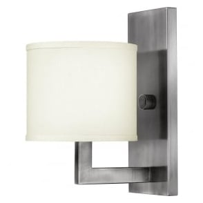 Hinkley HK/HAMPTON1 Hampton 1 Light Wall Light Antique Nickel