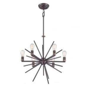 Quoizel QZ/CARNEGIE6 Carnegie 6 Light Ceiling Pendant Bronze