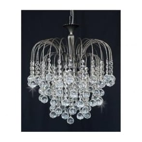ST01800/40/03/AN Shower 3 Light Crystal Pendant Antique Nickel